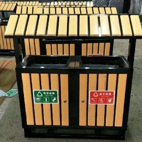 泓洁钢木垃圾桶出货柳州
