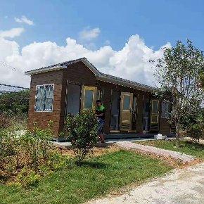 泓洁金属雕花板环保移动厕所出货上林淘金乐园