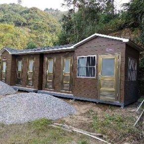 泓洁金属雕花板环保移动厕所出货紫云山庄